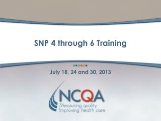 SNP 4 through 6 Training