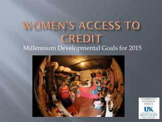 Women's Access to Credit