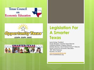 Legislation For A Smarter Texas