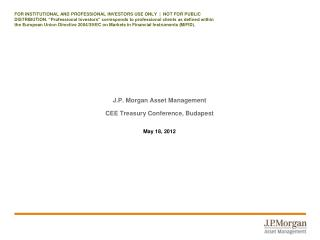 J.P. Morgan Asset Management CEE Treasury Conference, Budapest