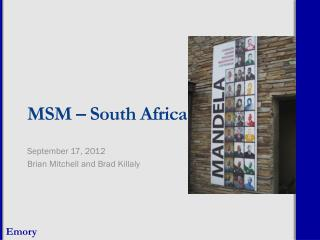 MSM � South Africa