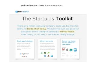Web and Business Tools Startups Use Most