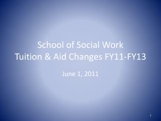 School of Social Work Tuition & Aid Changes FY11-FY13