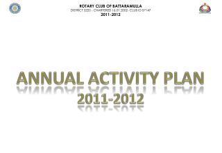 ANNUAL ACTIVITY plan 2011-2012