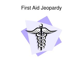 first aid jeopardy