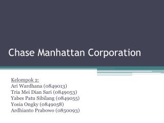 Chase Manhattan Corporation