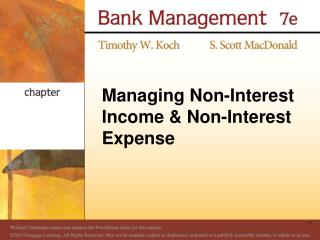 Managing Non-Interest Income & Non-Interest Expense