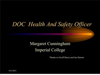 doc  health and safety officer