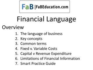 Financial Language