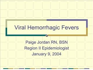 viral hemorrhagic fevers