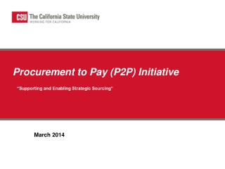 Procurement to  Pay ( P2P) Initiative