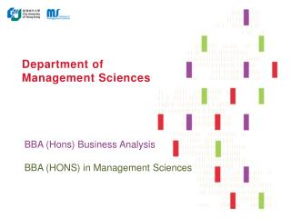 Department of Management Sciences
