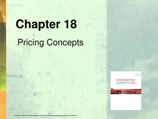 Chapter 18 Pricing Concepts