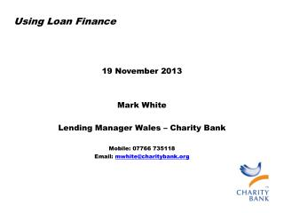 U sing Loan Finance