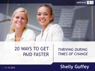 20 WAYS TO GET PAID FASTER