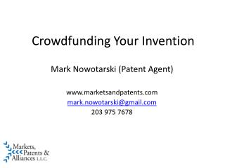 Crowdfunding Your Invention