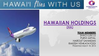 HAWAIIAN holdings (HA)