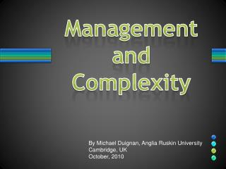 Management and Complexity