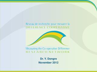Dr.  Y. Dongre November 2012