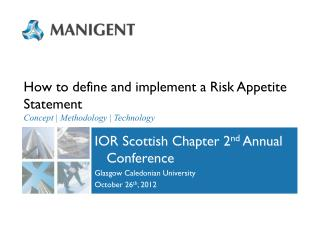 How to define and implement a Risk Appetite Statement Concept | Methodology | Technology