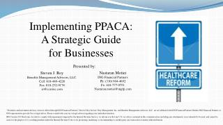 Implementing PPACA: A Strategic Guide  for Businesses