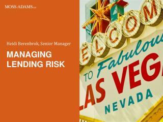 Managing lending risk