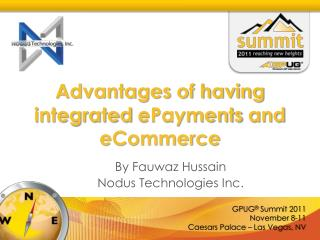 Advantages of having integrated  ePayments  and  eCommerce