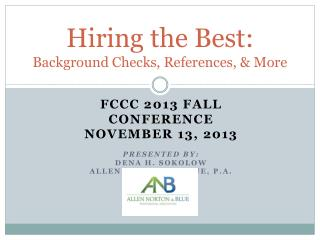 Hiring the Best: Background Checks, References, & More
