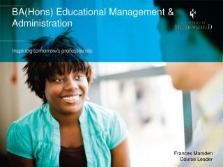 BA(Hons) Educational Management & Administration