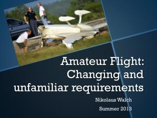 certification of experimental amateur built aircraft
