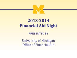 2013-2014 Financial Aid Night