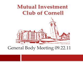 General Body Meeting 09.22.11
