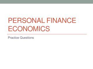 Personal Finance Economics