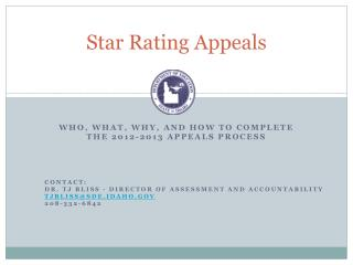 Star Rating Appeals