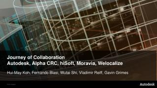 Journey of Collaboration Autodesk, Alpha CRC, hiSoft, Moravia, Welocalize