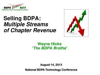 Selling BDPA:  Multiple Streams  of Chapter Revenue Wayne  Hicks 'The BDPA  Brotha '