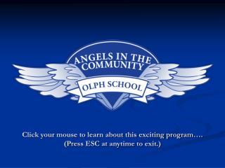 click your mouse to learn about this exciting program . press esc at anytime to exit.
