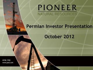 Permian Investor Presentation October 2012