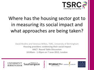 Where has the housing sector got to in measuring its social impact and what approaches are being taken?