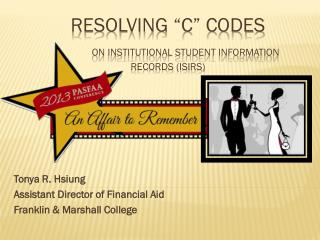 "Resolving ""C"" Codes  on Institutional Student Information Records (ISIRS)"