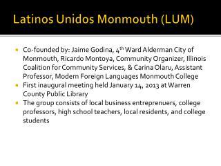 Latinos  Unidos  Monmouth (LUM)