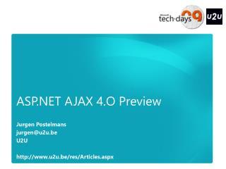 ASP.NET AJAX 4.O Preview