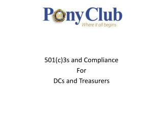 501(c)3s and Compliance For DCs and Treasurers