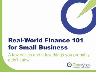 Real-World Finance 101 for Small Business