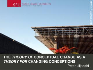 The  theory of  conceptual change as a  theory for  changing CONCEPTIONS