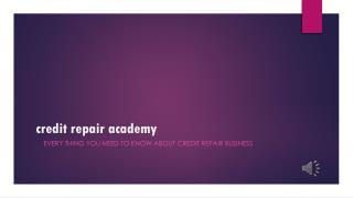 credit repair academy