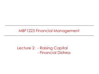 MBF1223 Financial Management