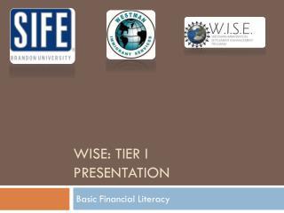 WISe : Tier I  presentation