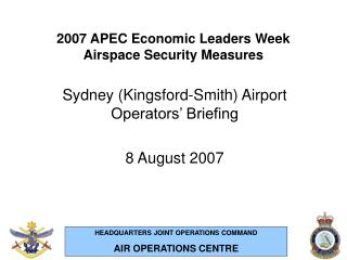 2007 apec economic leaders week airspace security measures