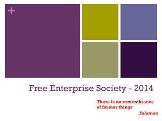 Free Enterprise Society - 2014
